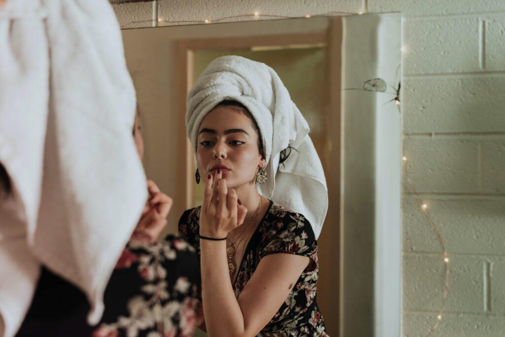 Women doing makeup